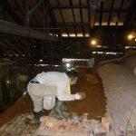 登り窯の修復作業